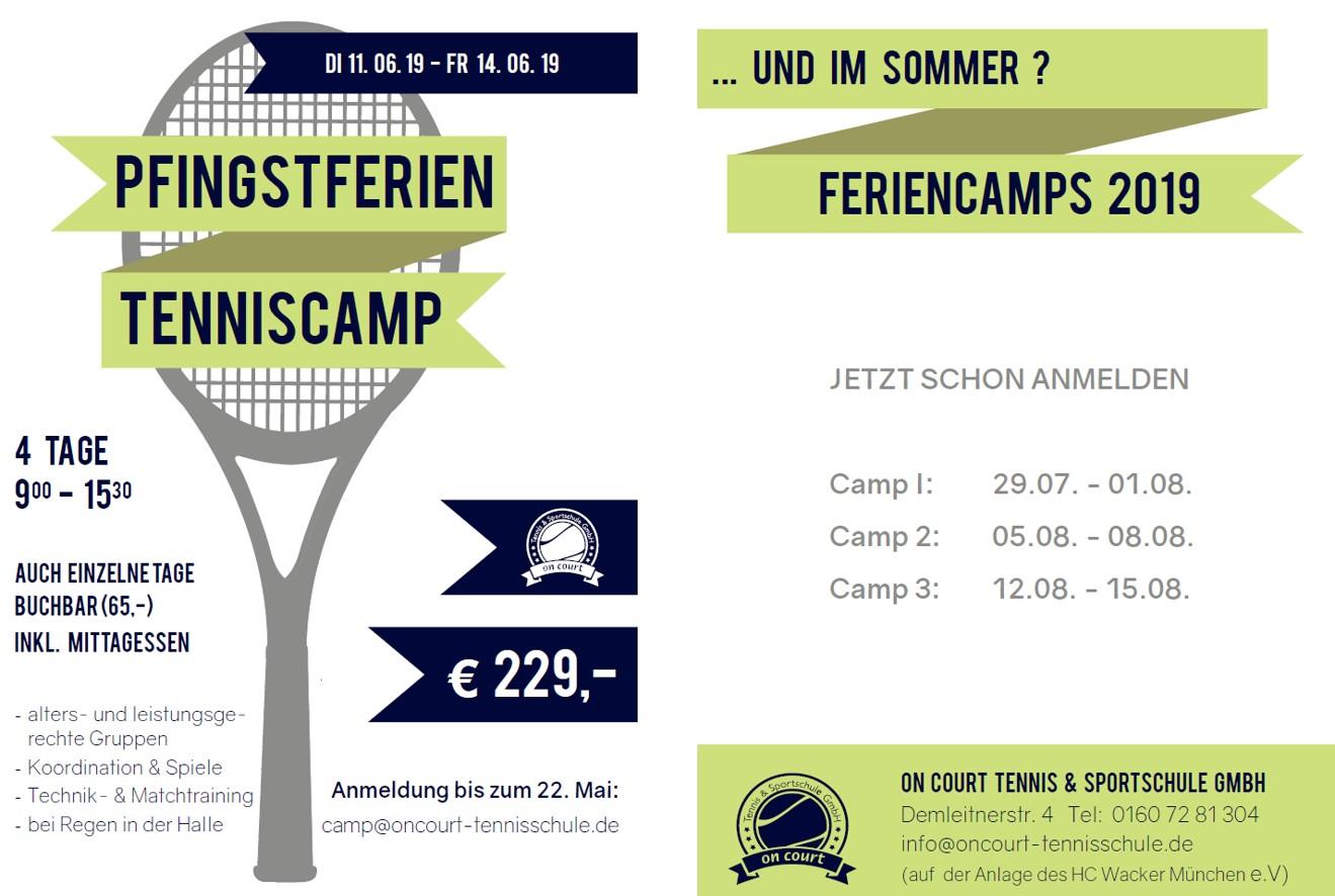 Tennis – Auch in diesem Jahr bietet die Tennisschule wieder Feriencamps an